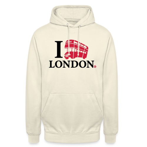 I love (Double-decker bus) London - Unisex Hoodie