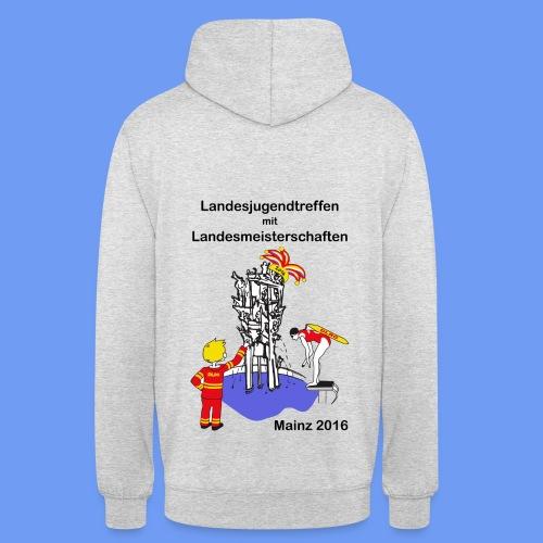 LM Logo vierfarbig mit Schrift schwarz - Unisex Hoodie