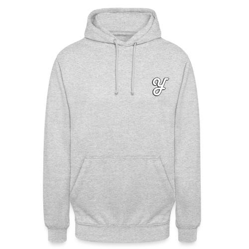 logo Yello juste le Y blanc png - Sweat-shirt à capuche unisexe