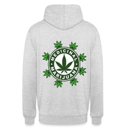 médicinal marijuana - Sweat-shirt à capuche unisexe
