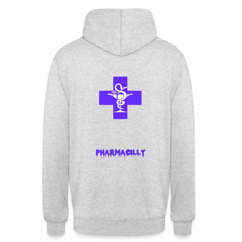 Farmacia TEXT png - Sweat-shirt à capuche unisexe