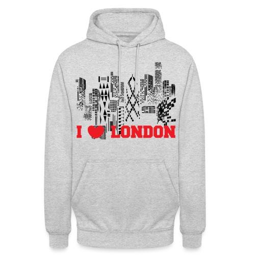 I LOVE LONDON SKYCRAPERS - Sudadera con capucha unisex