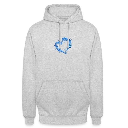 Water love heart - Unisex Hoodie