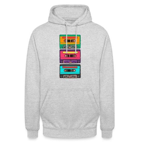 Colorful Cassettes row - Luvtröja unisex