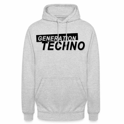 Generation Techno png - Unisex Hoodie