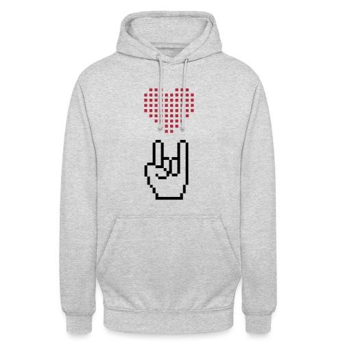 Pixel Love Rock - Unisex Hoodie