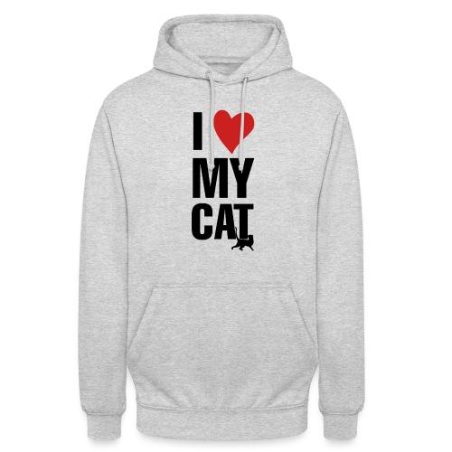 I_LOVE_MY_CAT-png - Sudadera con capucha unisex