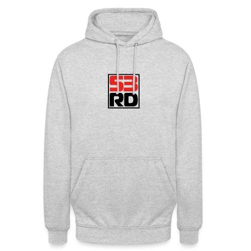 53RD Logo kompakt umrandet (schwarz-rot) - Unisex Hoodie