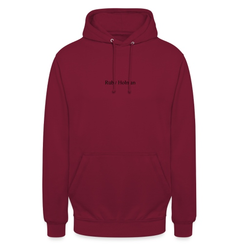 Ruby Holaman - Sweat-shirt à capuche unisexe