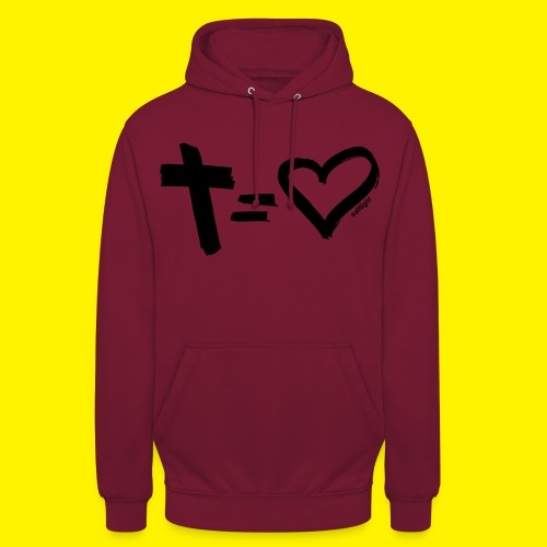 Cross = Heart BLACK - Unisex Hoodie