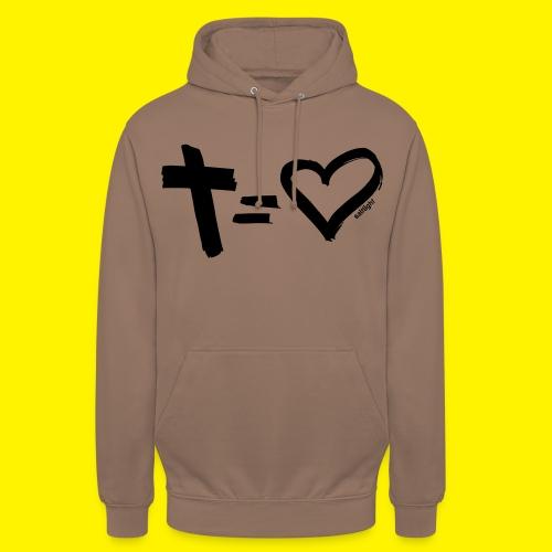 Cross = Heart BLACK - Unisex Hoodie