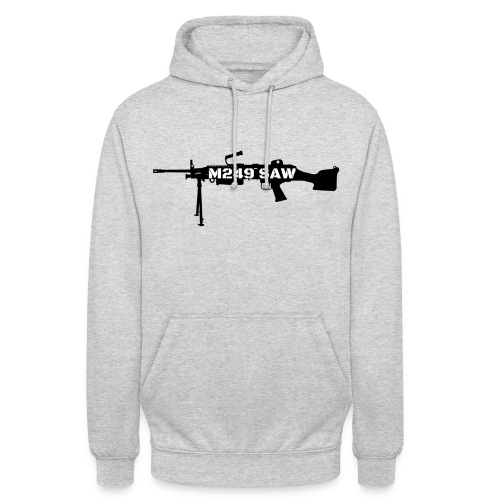 M249 SAW light machinegun design - Hoodie unisex