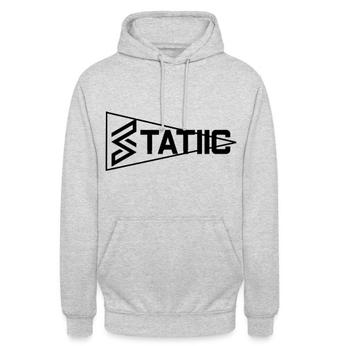 statiic text png - Unisex Hoodie