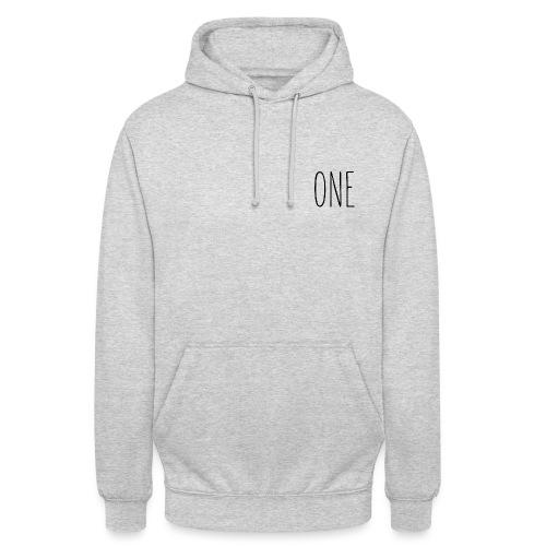 One (Schwarz) - Unisex Hoodie