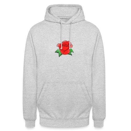 Rosa - Felpa con cappuccio unisex