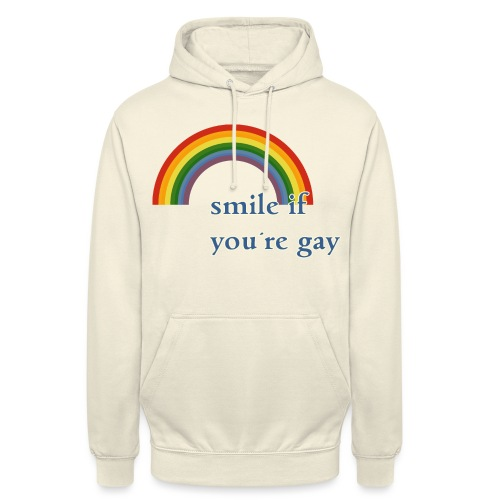 Lächle wenn du schwul bist | Vintage | LGBT |Pride - Unisex Hoodie