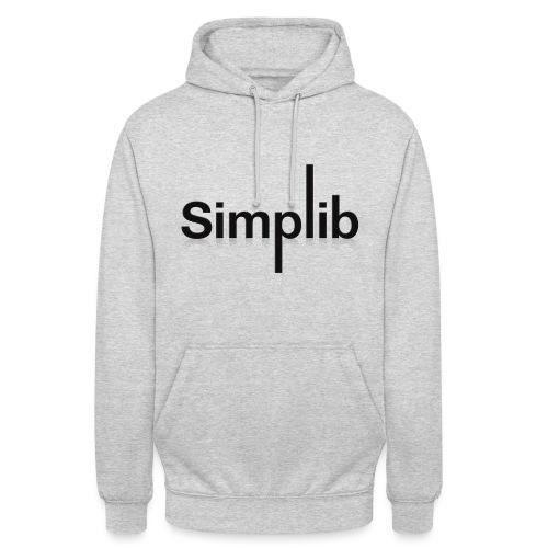 Logo-Simplib-ok - Bluza z kapturem typu unisex
