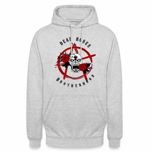 Dead Roses Anarchy Skull Black - Unisex Hoodie