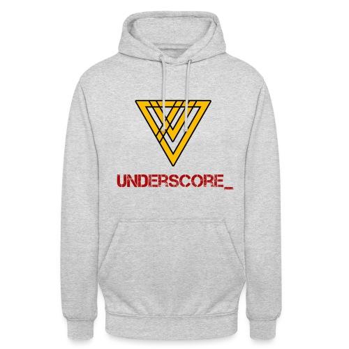 Underscore Yellow Red - Unisex Hoodie