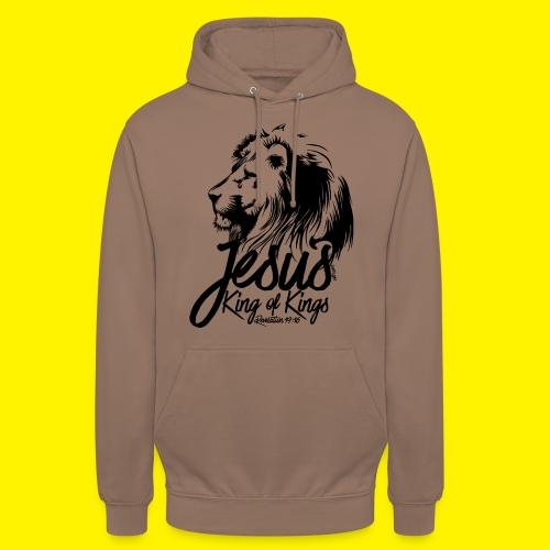 JESUS - KING OF KINGS - Revelations 19:16 - LION - Unisex Hoodie