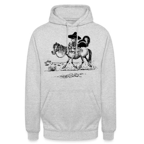 Thelwell Cowboy mit einem Stinktier - Unisex Hoodie