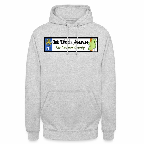 ARMAGH, NORTHERN IRELAND licence plate tags decal - Unisex Hoodie