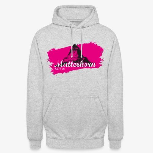 Matterhorn - Cervino en rosa - Unisex Hoodie