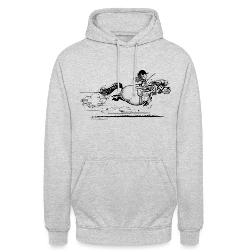 Thelwell Cartoon Pony Sprint - Unisex Hoodie
