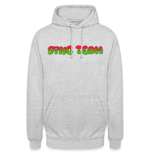 vêtement avec text SYNC TEAM - Sweat-shirt à capuche unisexe