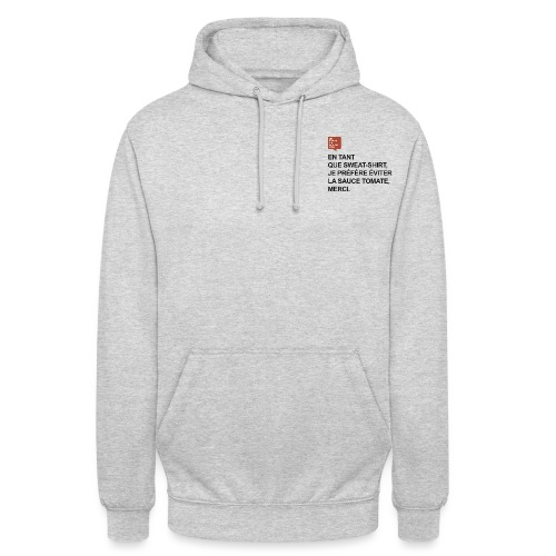 Sweat-shirt sauce tomate - Sweat-shirt à capuche unisexe