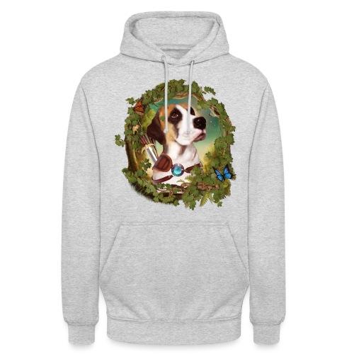 Fantasy Dog - Felpa con cappuccio unisex