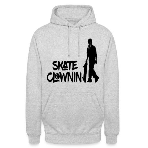 Skateclowninallblackno bg gif - Unisex Hoodie