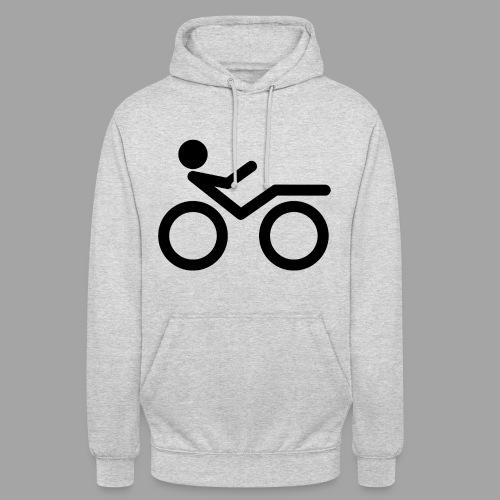 """Recumbent bike black 2 - Huppari """"unisex"""""""
