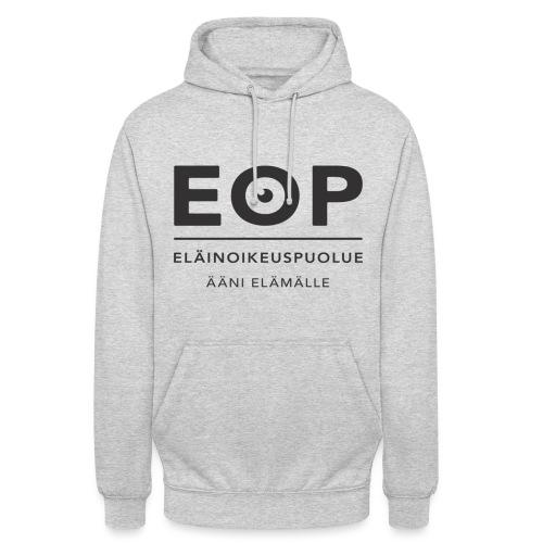 """EOP Logo slogan musta - Huppari """"unisex"""""""