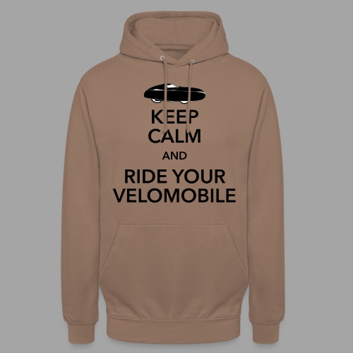 "Keep calm and ride your velomobile black - Huppari ""unisex"""