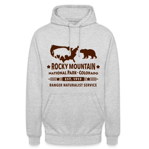Rocky Mountain Nationalpark Berg Bison Grizzly Bär - Unisex Hoodie