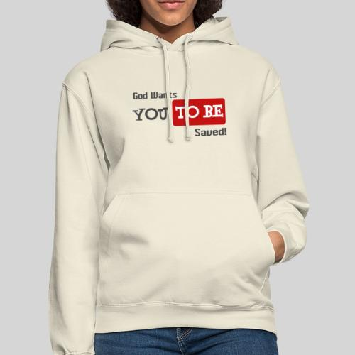 God wants you to be saved Johannes 3,16 - Unisex Hoodie