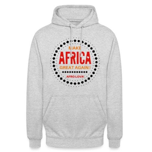 Make Africa Great Again Marron - Sweat-shirt à capuche unisexe