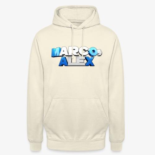 Logo Marco+Alex - Felpa con cappuccio unisex