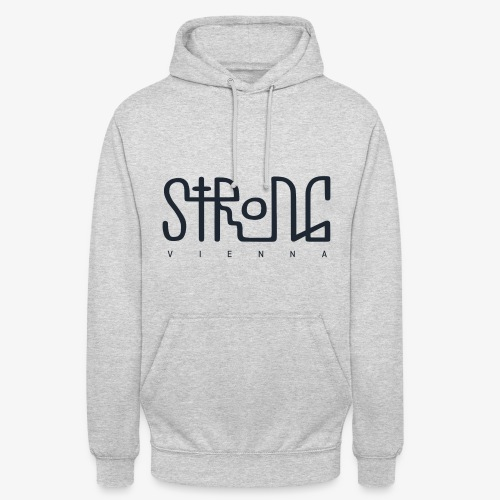 strong vienna logo dunkel trans png - Unisex Hoodie