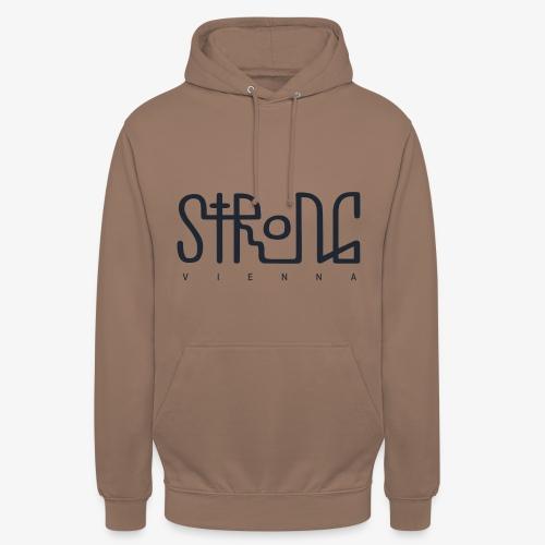 strong vienna logo dunkel trans png - Unisex Hoodie