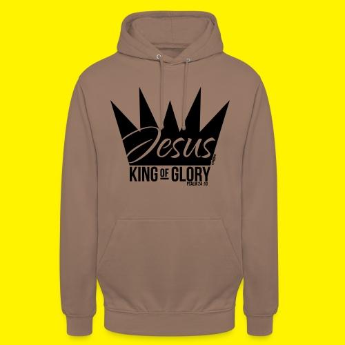 JESUS KING OF GLORY // Psalm 24:10 (BLACK) - Unisex Hoodie
