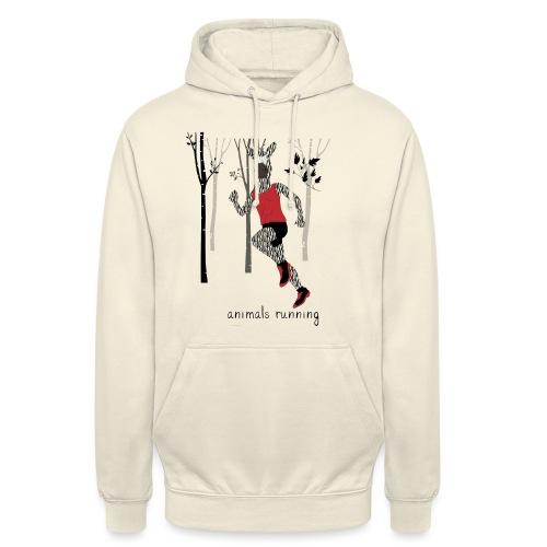 Zèbre running - Sweat-shirt à capuche unisexe