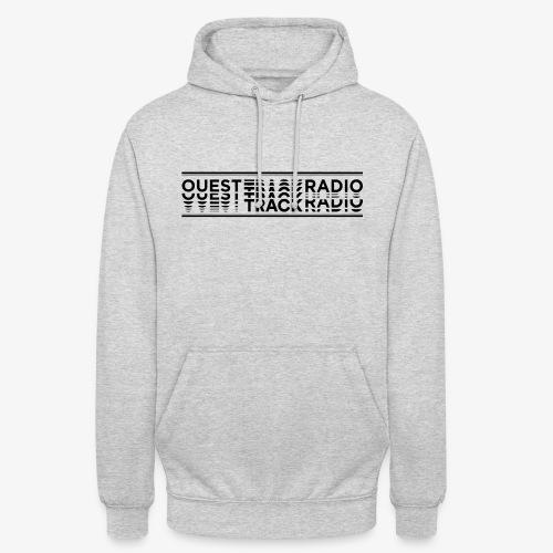 Logo Long noir - Sweat-shirt à capuche unisexe