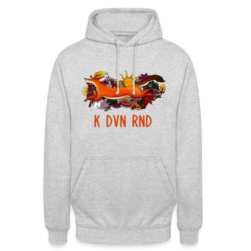K DVN RND - Floral Fox - Sweat-shirt à capuche unisexe
