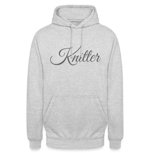 Knitter, dark gray - Unisex Hoodie