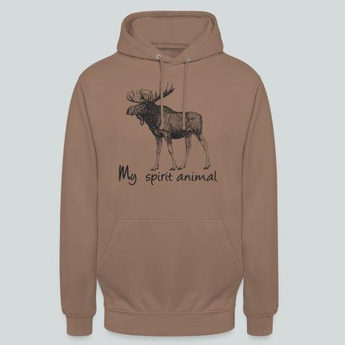 L'élan est mon animal totem - Sweat-shirt à capuche unisexe
