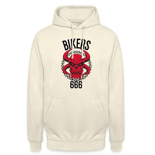 biker devil - Sweat-shirt à capuche unisexe