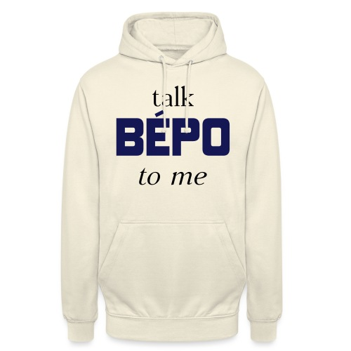 talk bépo new - Sweat-shirt à capuche unisexe