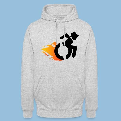 Roller met vlammen 016 - Hoodie unisex